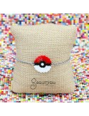 PULSERA POKEBALL ACERO