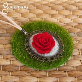 "Collar Rosa ""Red devotion"""